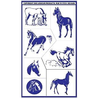 Armour Etch Stencil Rub N Etch Stencil, Horses, 5-Inch by 8-Inch