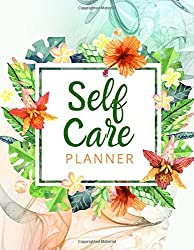 Self Care Wheel: Beautiful 12-Month Positive Thoughts Notebook with Mood Tracker, Self Care Checklist, Inspirational Quotes, Self Reflection Cards, Me Time Pages, Mental Health Monitor, and more.