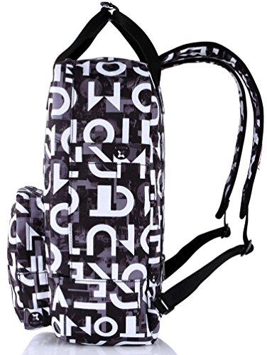 HotStyle Paisley Damen Rucksack mit Laptopfach 14 zoll (40x29x14cm) D160A, Grau