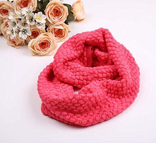 MEICHEN-Bib Lady kernel sciarpe di lana per l'autunno/inverno Dress shirt collari,Cocomero rosso
