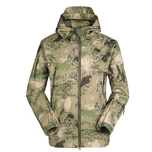 SANKE Herren Outdoor Softshell Militär Taktische Jacke Winter Fleece Kapuzenmantel (Verbergen Und Tragen Jacke)