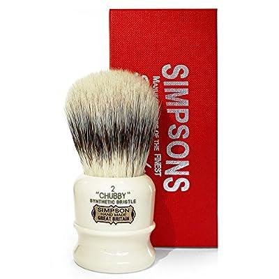 Simpson Shaving Brushes Synthetic Badger Shaving Brush–82Gr