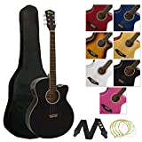 Tiger Full Size Electro Acoustic Guitar Package for Beginners with Built In Tuner
