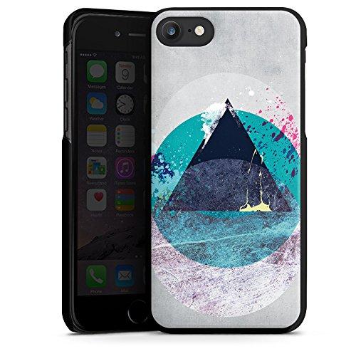 Apple iPhone X Silikon Hülle Case Schutzhülle Kreis Dreieck Klecks Hard Case schwarz