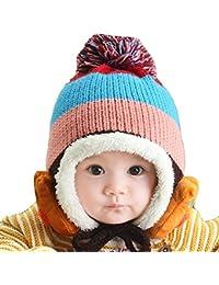 Primi bebé de punto cálido Earflap Caps Infant Fleece ... 3ce62d21262