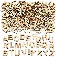 Baker Ross- Letras mayúsculas de Madera en Miniatura (Pack de 260) para Decorar