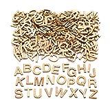 Baker Ross Mini-Großbuchstaben aus Holz (260 Stück) - für Kinder zum Basteln, Gestalten und Dekorieren