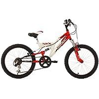 "Bici bambino Mountainbike Fully 20"" Zodiac rosso-bianco 31 cm KS Cycling"