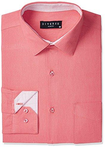 Diverse Men's Formal Shirt (8903905009081_DVF05F2L01-44_42_Red)