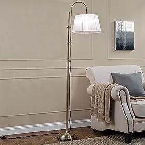 [lux.pro] Stehleuchte - White Bow - (1 x E27 Sockel)(170 cm x Ø 35 cm) Stehlampe Fußbodenlampe Zimmerlampe Wohnzimmerlampe [Energieklasse A+++]