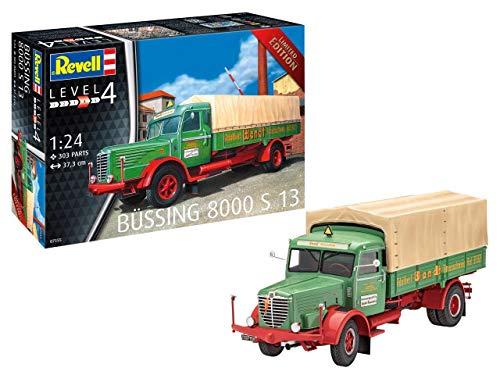 Revell 7555 S 13 Plastic Model Kit 07555 1:24 Büssing 8000, Mehrfarbig, 1/24 (1 24 Scale Model Kits)