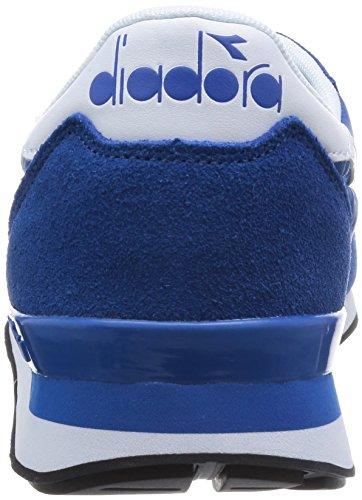 Diadora Camaro, Sneaker Basse Unisex - Adulto Blu/Bianco