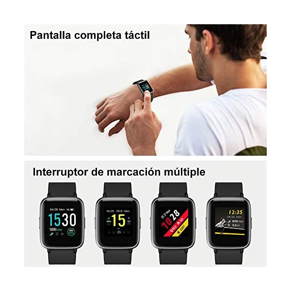 Willful Smartwatch Impermeable Reloj Inteligente con Pulsómetro, Pulsera Inteligente para Deporte con Cronómetro, Podómetro. Smartwatch Hombre Mujer Niños para Android iOS Xiaomi Huawei iPhone 5