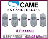 5X Télécommande CAME Top432ee).. Haute qualité Original 2canaux came Top 432ee télécommandes. Code fixe, la fréquence 433,92MHz. 5pièces.