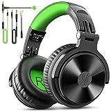 Over Ear Kopfhörer OneOdio DJ Kopfhörer mit Kabel Stereo Surround Gaming Headset mit Boom Mikrofon Adapter Frei Geschlossene Studio Kopfhörer mit Share Port für Podcast, Recording, Monitoring