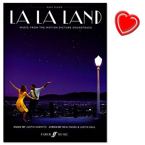 La La Land Easy Piano–Music From The Motion Picture Soundtrack–Note livre avec cœur Note colorée Pince
