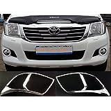 Toyota Hilux 12–16cromado frontal cabeza luz lámpara Covers Recorta Surround kitchrome