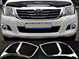 Toyota Hilux 12-16 CHROME FRONT HEAD LIGHT LAMP COVERS TRIMS SURROUND KITCHROME
