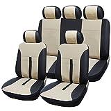 Universal Sitzbezüge für Auto Schonbezüge Sitzbezug Schonbezug Set Sitzschoner Schwarz-beige AS7288