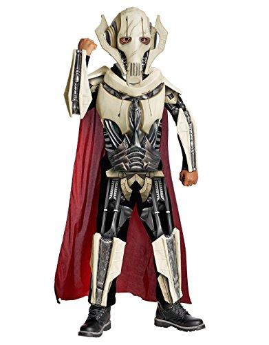 Star Wars Kostüm, Kids Deluxe General Grievous Outfit, mittel, Alter 5–7, Höhe 4'5,1cm–4' (Grievous Deluxe General Kostüm)