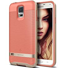 Funda Galaxy S5, Caseology® [Serie Wavelength] Duradero Antideslizante Gota de Protección [Rosa del Coral] para Samsung Galaxy S5 (2014) - Rosa del Coral