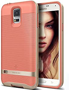 separation shoes 5534b b228b Galaxy S5 Case Caseology Wavelength Series Slim Ergonomic Ripple Design  Coral Pink Modern Gri