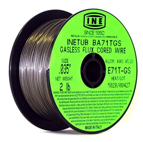 INETUB BA71TGS .035-Inch on 2-Pound Spool Carbon Steel Gasless Flux Cored Welding Wire by INE USA Since 1950 - Cored Carbon