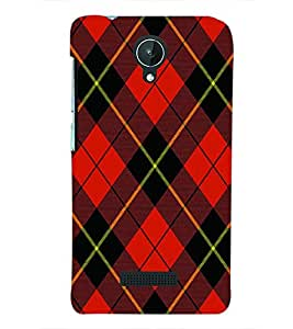 PRINTSWAG RED SQUARES PATTERN Designer Back Cover Case for MICROMAX CANVAS SPARK Q380