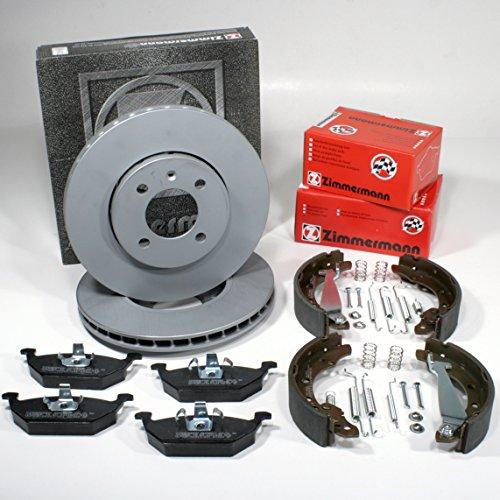 Zimmermann Disco pr-n 1LA, 1ZQ Coat Z/freno + Pastiglie freno anteriore + ganasce freno + accessori per la parte posteriore