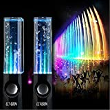ECVISION Plug And Play Muti-Colored Illuminated Dancing Water Speakers