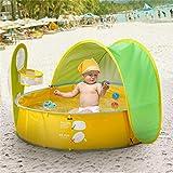 ACMEDE Baby Zelt Pop Up Bällebad, Baby Planschbecken mit Sonnenschutz UV-Schutz zum Spielen von...