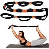 OPTA YB-001 Cotton Resistance Stretch Band with 10 Loops for Exercise, Yoga, and Flexibility - Non Elastic Band and Includes a Travel Bag