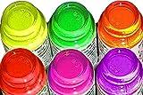 Set di Offerta: 6bottiglie Je 4,5ML hochpigmentierte stampaggio di lacche in vivaci colori al neon