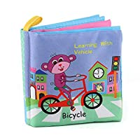 Baby Shower Bath English Cartoon Animal Cloth Book Early Educational Games Toy Christmas Birthday Gifts for Kids Children(traffic) Jasnyfall