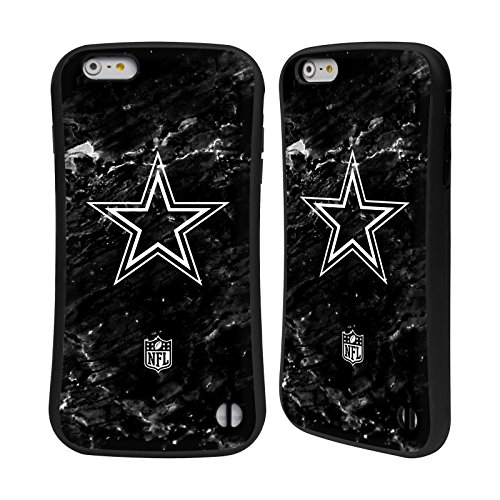 Ufficiale NFL Pattern 2017/18 Dallas Cowboys Logo Case Ibrida per Apple iPhone 6 / 6s Marmo