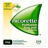 Nicorette Fruit Fusion Gum, 6 mg 210 pro Packung