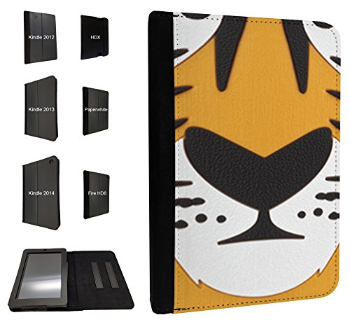411 – Cute Tiger Face Design Fall Fashion Trend für alle Amazon Kindle Fire HD 17,8 cm 2012/HD7