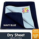 Bey Bee Just Dry Waterproof Single Bed Protector - Large (Dark Blue)