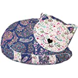 Sass & Belle Applique Sleeping Cat Cushion - Prunella (With Inner)