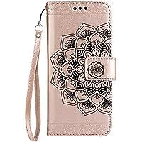 Funda para Samsung Galaxy A5(2017), Samsung A520F Carcasa Cuero, CLTPY [2 en 1, Separable] Cubierta de Billetera Estilo Libro con Diseño de Mandala 3D para Samsung Galaxy A5(2017)/A520F + 1 x Lápiz Gratis - Oro Rosa