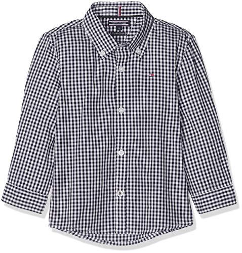 Tommy Hilfiger Jungen Boys Gingham Shirt L/S Hemd, Blau (Sky Captain 420), 140 (Herstellergröße: 10)