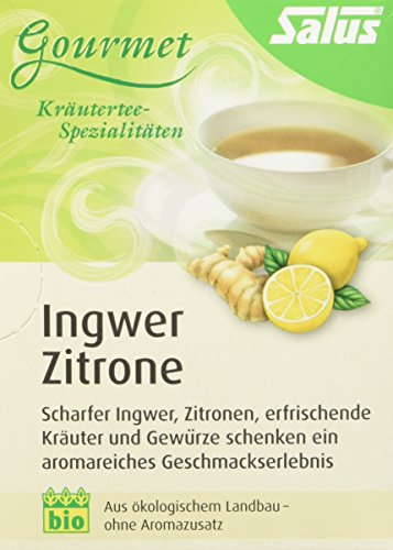 Salus Ingwer Zitrone Kräuter-Früchtetee, 3er Pack (3 x 30 g) - Zitronen-kräuter-tee
