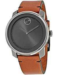 amazon co uk movado swiss made watches movado men s 43mm brown leather band steel case swiss