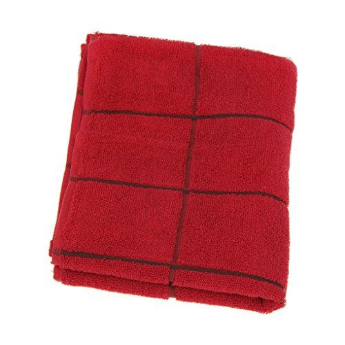 Serviette de Toilette 100% en Coton Serviette de Bain Résistants à la Décoloration 75x34CM pour Adulte/Enfant Unisexe Très Doux et Confortable Léger Jaune/Rose/Bleu/Rouge