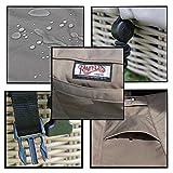 Raffles Covers RT190 Schutzhülle für rechteckige Gartentisch, 190 cm. Schutzhülle für rechteckigen Gartentisch, Abdeckhaube für Gartentisch, Gartenmöbel Abdeckung