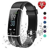 Lintelek Fitness Armband,Fitness Tracker mit Pulsmesser 0,96 Zoll Farbdisplay Fitness Uhr Armband...