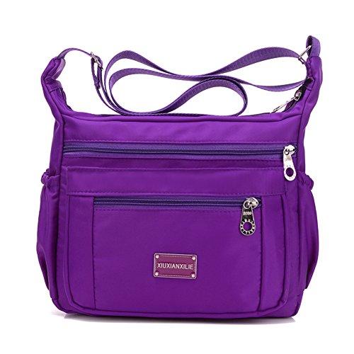 Sacs à main en nylon/Incline sac à bandoulière/tissu imperméable à l'eau de grande capacité/Oxford loisirs unique épaule diagonal paquet-C C