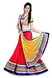Lovisa Fashion Net Multi Color Lahenga Choli (KL08_NetLahengaCholi)