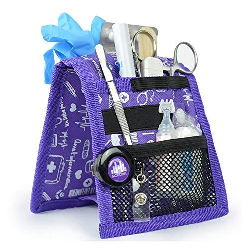 Organizador auxiliar de enfermería para bata o pijama | estampados en morado | Keen\'s de Mobiclinic | Elite Bags