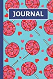 Journal: Kids Notebook: Blue, Red and Pink Lollipop and Heart Design